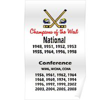 Hockey Champions of the West! Poster