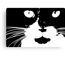 Cat Print/My Patch Abstract Graphic Cat Print Black and White - Jenny Meehan Design Canvas Print