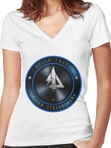 Delta Force Logo Women's Fitted V-Neck T-Shirt