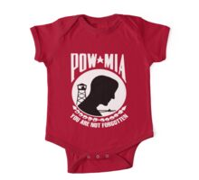POW-MIA for Dark Backgrounds One Piece - Short Sleeve
