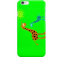 colorful Giraffe family (sticker & iPhone/iPod case) iPhone Case/Skin