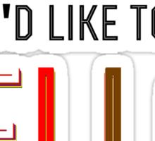 I am Wonder Mike Sticker