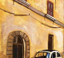 FIAT 500 oil on canvas by citywind
