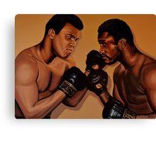 Muhammad Ali and Joe Frazier Painting Canvas Print