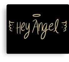 angel wings black Canvas Print
