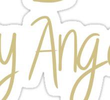 angel wings black Sticker