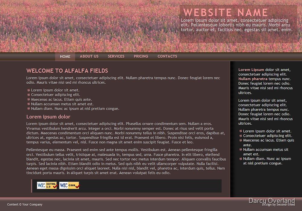 Alfalfa Fields - web design by Darcy Overland