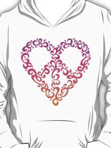 Floral Peace Heart T-Shirt