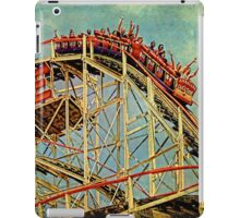Riding The Famous Cyclone Roller Coaster iPad Case/Skin
