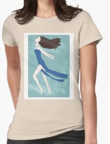 woman in the sky Womens Fitted T-Shirt