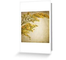 Sepia gold Greeting Card