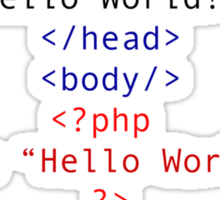 php Greeting for Nerds and Geeks Sticker