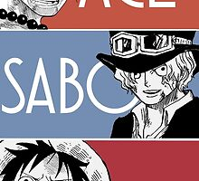 ASL - Ace Sabo Luffy - Brothers  by NomadSenpai