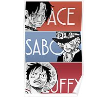 ASL - Ace Sabo Luffy - Brothers  Poster