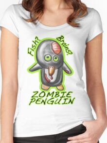 Zombie Penguin Women's Fitted Scoop T-Shirt