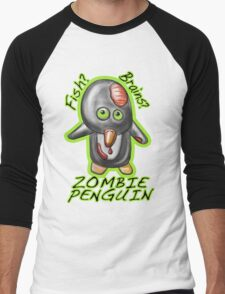 Zombie Penguin Men's Baseball ¾ T-Shirt