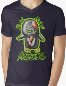 Zombie Penguin Mens V-Neck T-Shirt
