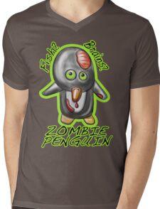 Zombie Penguin Mens V-Neck T-Shirt
