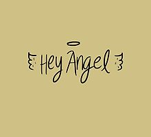 Hey Angel by 1D - Black on Gold by eliannadraws