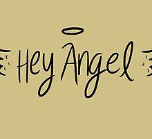Hey Angel by 1D - Black on Gold by eliannadraws
