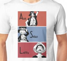 ASL, Ace, Sabo, Luffy, Brothers.  Unisex T-Shirt