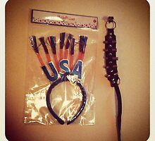 USA headband & bullet boot strap. by Michelle Izzo White