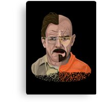 The Two Faces of Walter White Canvas Print