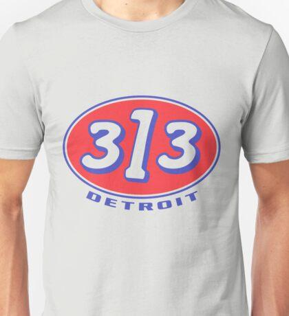 Detroit 313 Oval  Unisex T-Shirt