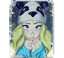 Cute Girl in the Snow iPad Case/Skin
