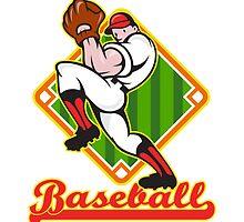 Baseball Pitcher Player Pitching Diamond by patrimonio
