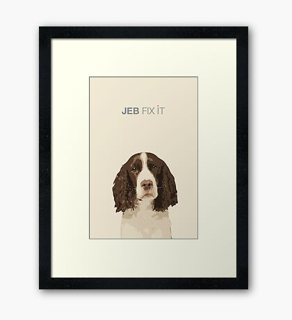 it can be done. Framed Print