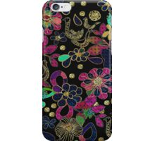 Colorful Retro Floral Design iPhone Case/Skin