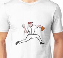 Baseball Pitcher Player Throwing Unisex T-Shirt
