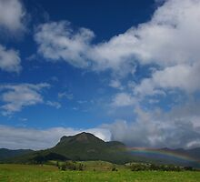 Rainbow, Mount Widgee. Lost World. Scenic Rim. Queensland. by Ian Hallmond