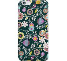 Colorful Cute Retro Floral Pattern Design iPhone Case/Skin