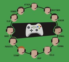 Competitive Call of Duty Stars T-Shirt (Text) by spawntrapped
