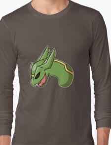 Pokemon- Rayquaza Headshot Long Sleeve T-Shirt
