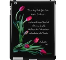 Psalm 27:4 iPad Case/Skin