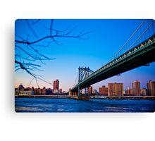 Thats how we across - Manhattan Bridge Canvas Print