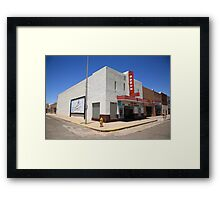 Route 66 - Odeon Theater Framed Print