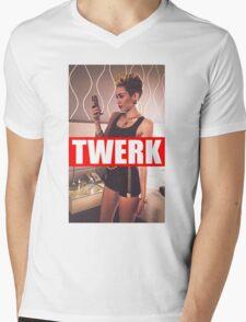 Miley Cyrus Twerk Team New Tee Mens V-Neck T-Shirt