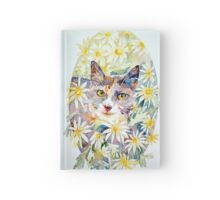 Molly in the daisies - photo by Annette Hagger Hardcover Journal