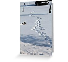 Steps in Silence (holiday greeting card) Greeting Card