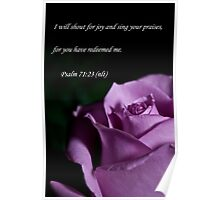 Psalm 71:23 Poster