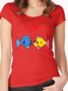 Love Beneath Sea Women's Fitted Scoop T-Shirt