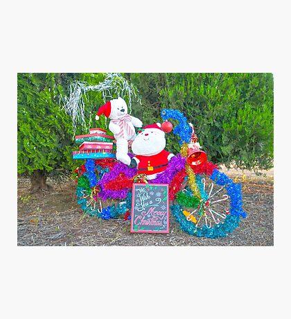 Santa's little bike... Photographic Print