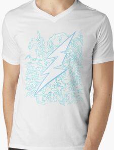 Feel the Thunder Mens V-Neck T-Shirt