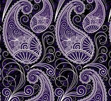 Pastel Tone Vintage Paisley Design, Touch Of Purple by artonwear