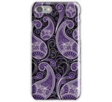 Pastel Tone Vintage Paisley Design, Touch Of Purple iPhone Case/Skin