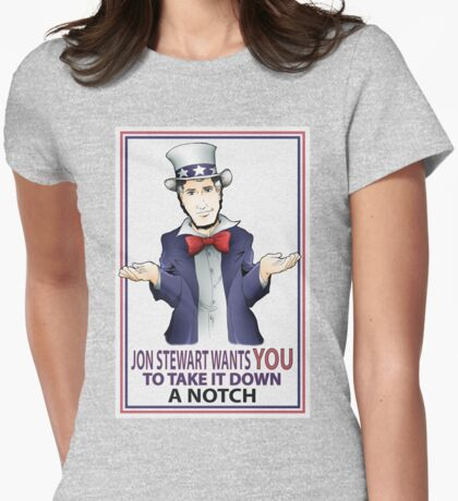 Take It Down a Notch Womens Fitted T-Shirt